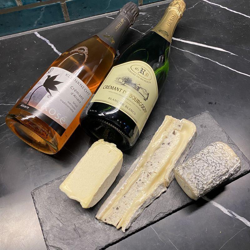 画像1: スパークリングワイン専用!ペアリングチーズセット (1)