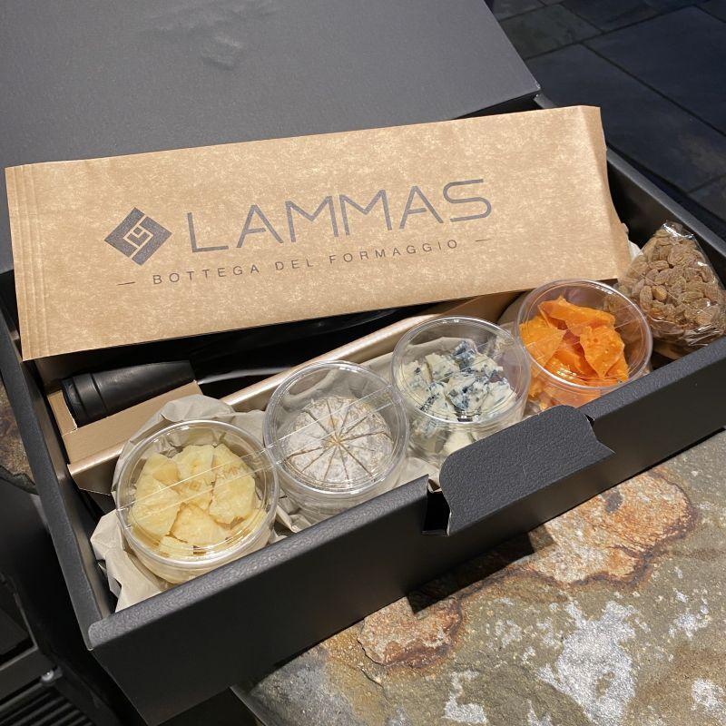 画像1: チーズアソートギフトセット〈ワイン付きBOX〉 (1)